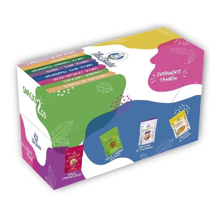 Embalagem de Crocante de Tapioca 25g com 10 unidades
