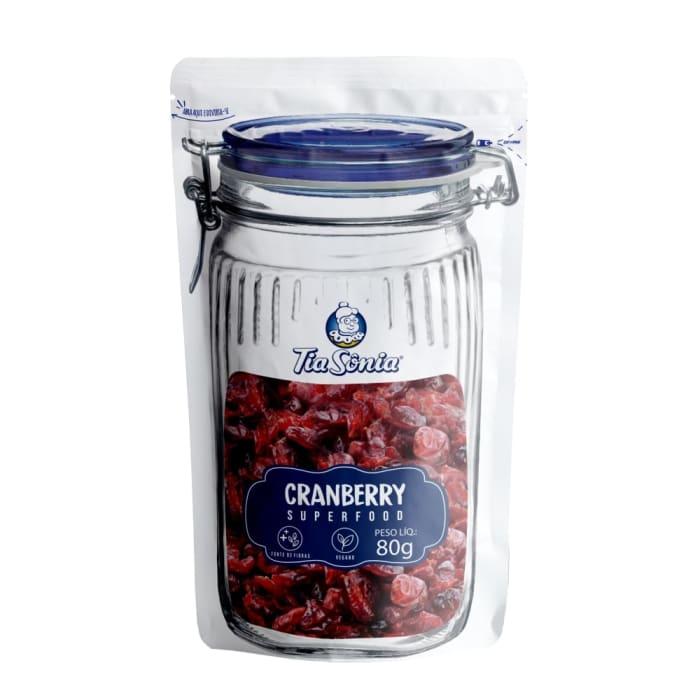 embalagem de Cranberry 80g tia sônia